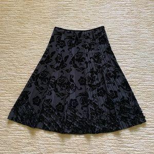 Stiletto Velvet Embossed Skirt